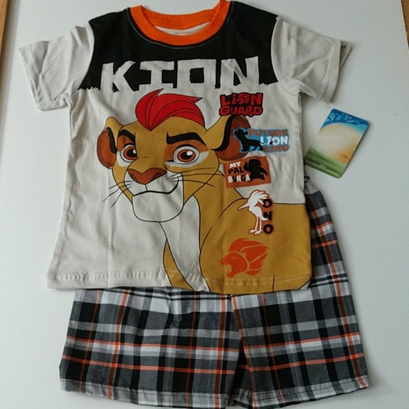 Clothing, Shoes, Accessories New Toddler Disney Lion Guard King Pajamas Size 2 Short Sleeve Pants Kion Other